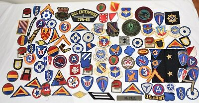 Huge Lot Of WW2 Us Military Patches Cut Edge Vintage Us Army Usn Usmc Rare