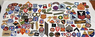 Huge Lot Of WW2 Us Military Patches Cut Edge Vintage Us Army Usn Usmc Theater Ma