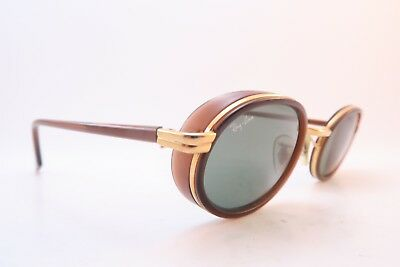 Vintage B&L Ray Ban sunglasses RB 3037 W2814 side visor etched BL lens Italy
