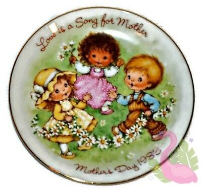 "Vintage AVON Mother's Day 1983 Collectible Porcelain 5"" Plate Love Is A Song"