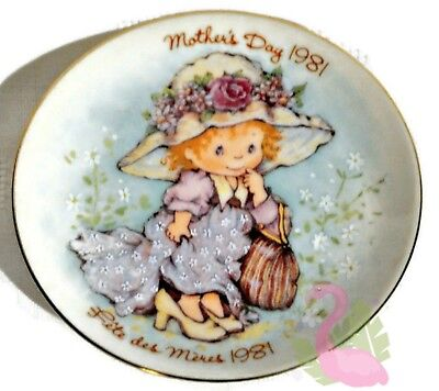 "Vintage AVON Mother's Day 1981 Collectible Porcelain 5"" Plate Made in Japan"