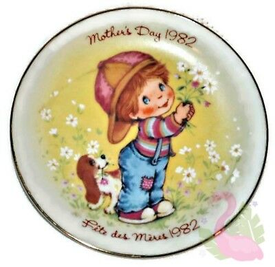 "Vintage AVON Mother's Day 1982 Collectible Porcelain 5"" Plate Little Things"