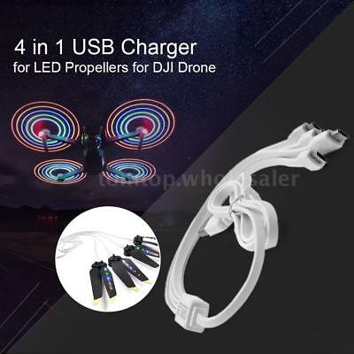 4 in 1 USB Cable Android Charger for LED Propellers DJI Mavic Pro Air Spark P3V7