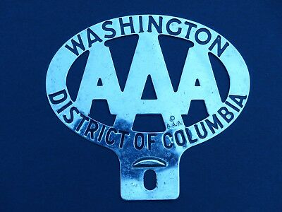 NICE Vintage Washington DC District of Columbia AAA License Plate Attachment