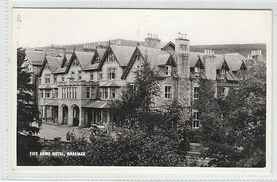 Fife Arms Hotel Braemar Aberdeen c1940's Real Photograph Old Postcard Unposted