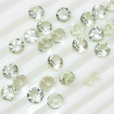 Wholesale Lot 6mm Round Faceted Natural Green Amethyst Loose Calibrated Gemstone
