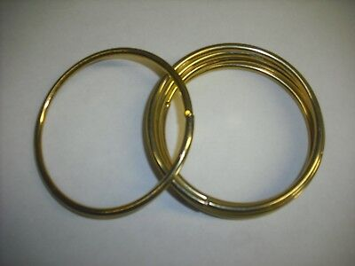 """3"""" Macrame Brass Polished Rings Lot Of 5 Free Shipping"""