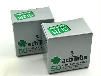 ActiTube SLIM Aktivkohlefilter 1x50er Aktivkohle Filter - 7mm Filter Joint Tips