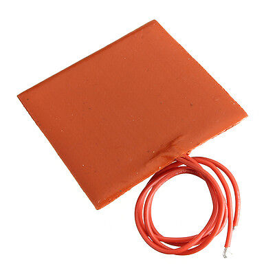 Waterproof Silicone Orange Rubber Flexible Heating Heat Pad 60*60MM DC 12V 10W