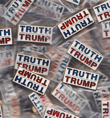 "LOT OF 3- GOP Presidential Candidate ""TRUTH TRUMP"" 1.25"" Lapel Pins -NOT Buttons"