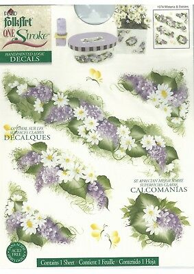 Plaid Decals WISTERIA & DAISIES