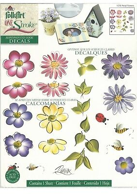 Plaid Decals PETAL FLOWERS