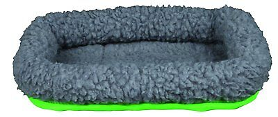 Trixie Cuddly Nylon Cosy Bed for Guinea Pigs, Chinchilla's & Rabbits Grey/Green