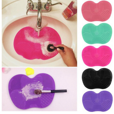Makeup Silicone Brush Pad Washing Cleaner Scrubber Board Cleaning Mat Hand New H