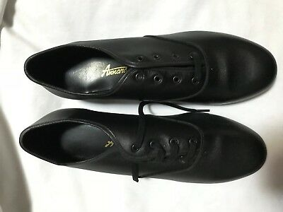 ADULTS  Mens  size 7  BLACK ANNARA lace up  Tap Shoe  older boys OXFORD  NEW