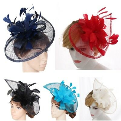 Womens Feather Hair Fascinator Hat Headband Wedding Royal Ascot Races Bespoke