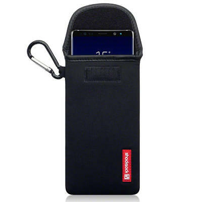 Shocksock Neoprene Pouch Case with Carabiner for Samsung Galaxy Note 9 - Black