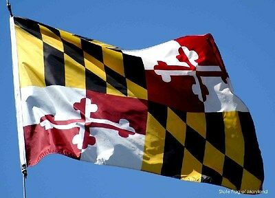 MARYLAND STATE OF FLAG  NEW 3x5ft better quality usa seller