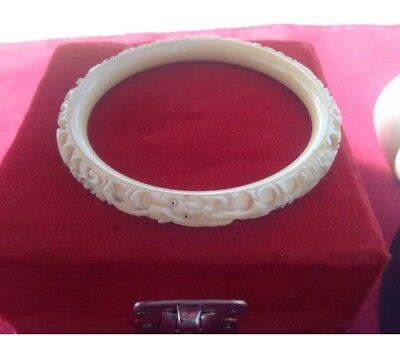 Antique Carved quality Chinese Dragon Bangle/bracelet