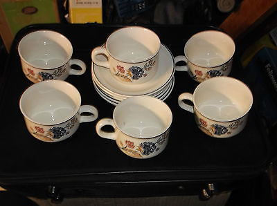 6  Boots Camargue  Cups And Saucers  In Vgc.