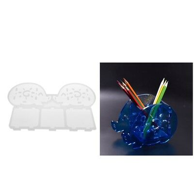 DIY Silicone Mould Pen Pencil Holder Resin Decorative Craft Mold Lovely Pig