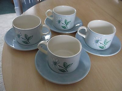 4  Boots Fine Tableware  Cups And Saucers In Vgc.