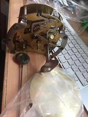 Vintage SMITHS Clock mechanism. pendulum and key for spares/repair