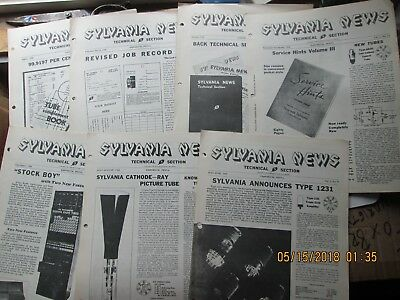 sylvania news technical section 1938 lot of 7