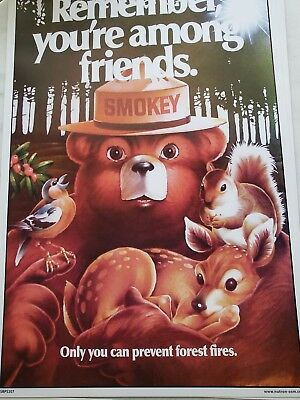 Smokey Bear CLASSIC POSTERS . Listing for 1 or  8
