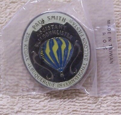 1996  Paul Smith Asst Balloonmeister Kodak Abq Int'l Balloon Fiesta Balloon Pin