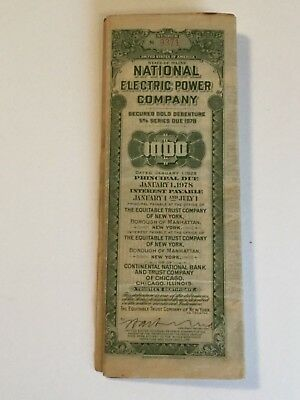 STATE OF MAINE 1978 National Electric Power Company Secured Gold Debenture 1000
