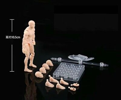 "1/18 3.75"" PVC Male Body Action Figure Skin version"