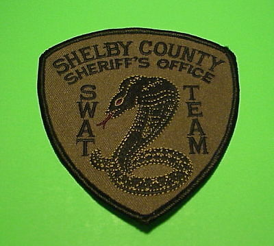Shelby County  Tennessee  Swat Team Subdued Green / Black Sheriff / Police Patch