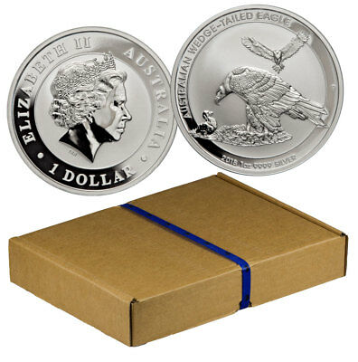 Monster Box-100 - 2018-P Australia 1 oz Silver Wedge-Tailed Eagle $1 BU SKU52644