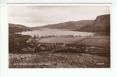 Houses Cottages Loch Brora Sutherland 1931 Real Photograph Valentines 212260