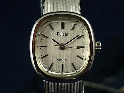 Vintage Retro Pulsar Women's Quartz Dress Watch Circa 1980's New Old Stock NOS