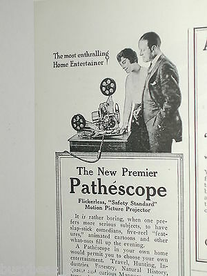 1920 Pathéscope advertisement, half page, Motion Picture Projector, movies