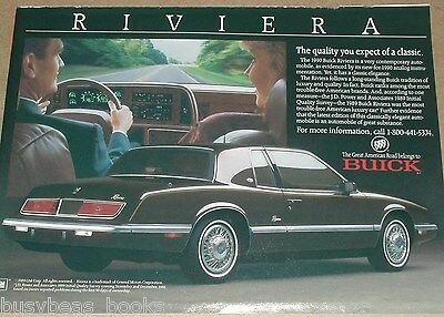 1990 BUICK RIVIERA advertisement, Buick Riviera, General Motors