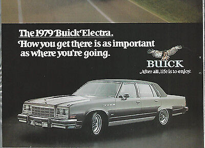 1979 BUICK ELECTRA advertisement, BUICK Electra Sedan ad, on the highway