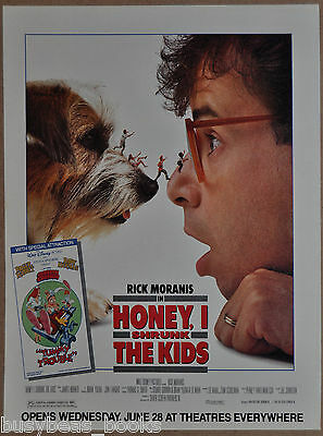 1989 HONEY I SHRUNK THE KIDS movie advertisement, Rick Moranis