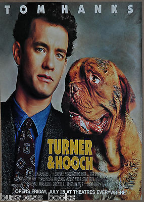 1989 TURNER & HOOCH movie advertisement, Tom Hanks