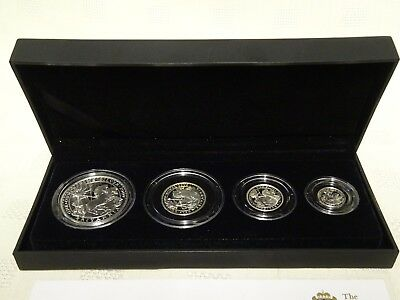 Cased Royal Mint 2009 Britannia Four Coin Silver Proof Set