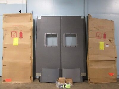 """*NEW* """"CHASE"""" COMMERCIAL HD ONE PAIR OF TRAFFIC DOORS w/BUMPER & ACRYLIC WINDOW"""