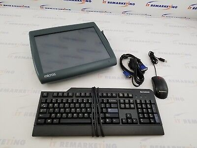 Micros Workstation 5A Touch POS WS5 400814-101 Point of Sale System Bundle