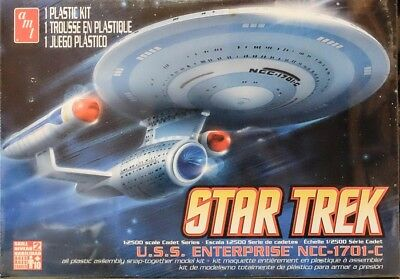 Star Trek U.S.S. Enterprise NCC-1701-C 1:2500 AMT Model Kit Bausatz AMT 661 USS