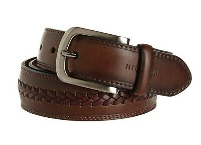 New Tommy Hilfiger Men/'s Center Ridge Casual Leather Brown Belt 11TL02X213