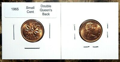 Canada 1965 **Double Queen's Back* Variety Small Cent Uncirculated BU Red!!