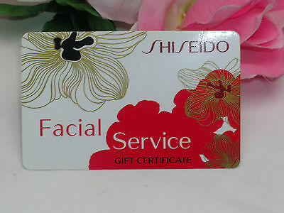 Shiseido Facial Service Gift Certificate Card Visit a Shiseido Counter to Redeem