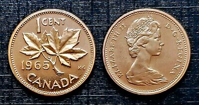 Canada 1965 Small Cent Proof Like Gem Penny!!
