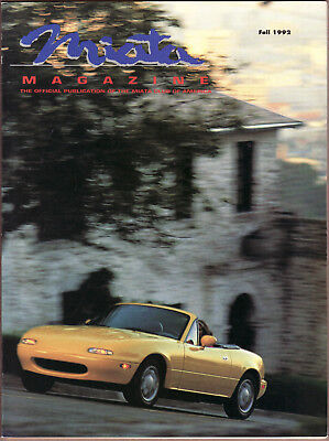 Mazda Miata Club Magazine Fall 1992 Mellow Yellow